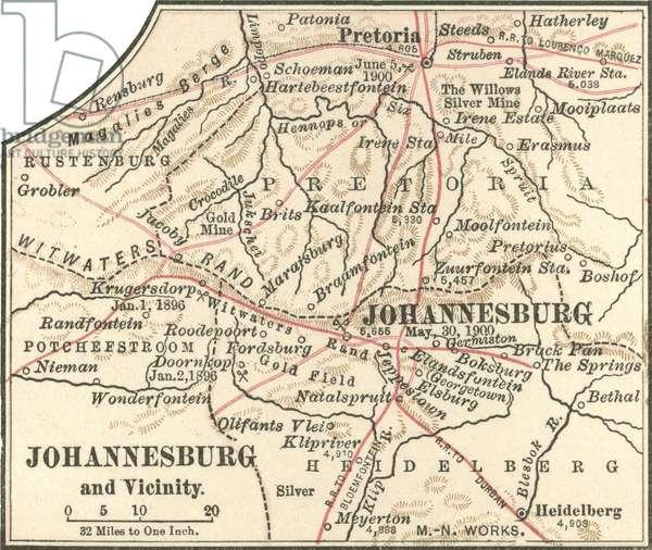 Map of Johannesburg
