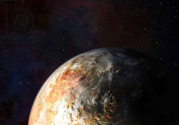 Artist's impression of the planet Pluto