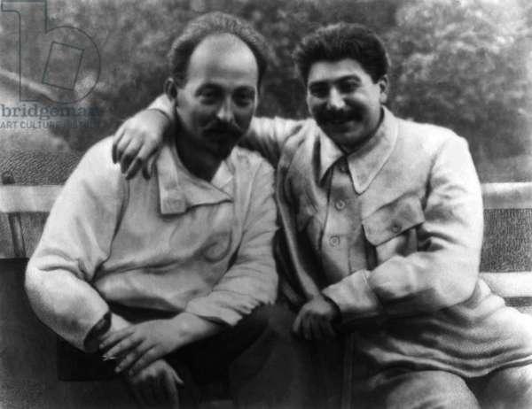 Josef Stalin (Right) with Felix Dzherzhinsky, Founder of the Cheka (First Soviet Secret Police), Late 1920s?.