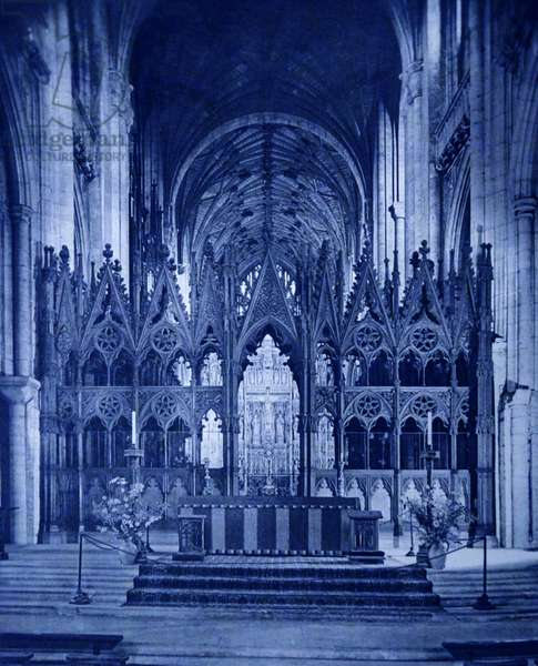 Photographic print showing the interior of Winchester Cathedral