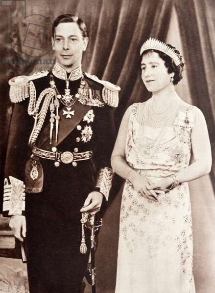 King George VI and Queen Elizabeth of England, 1937