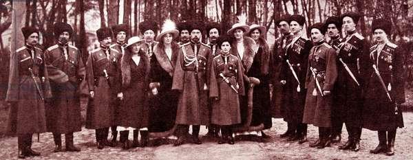 Tsar Nicholas II Tsarevich Alexis and his sisters, 1916