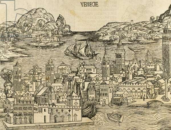 Venice, Italy, Liber Chronicarum (engraving)