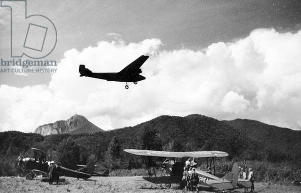 Polikarpov Po-2 (U-2) Biplanes at an Aerodrome in a Mountain Pass in the Northern Caucasus, World War 2, October 1942.
