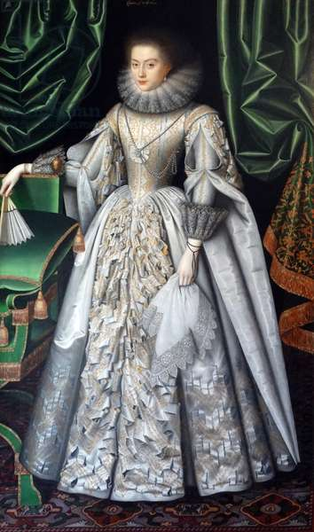 Portrait of Diana Cecil, Countess of Oxford attributed to William Larkin