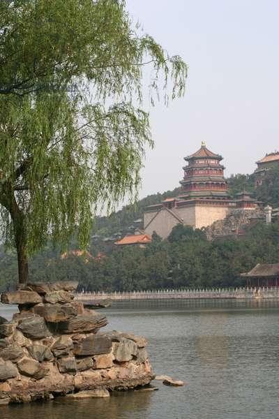 China, Beijing, Summer Palace on Longevity Hill, and Kunming Lake