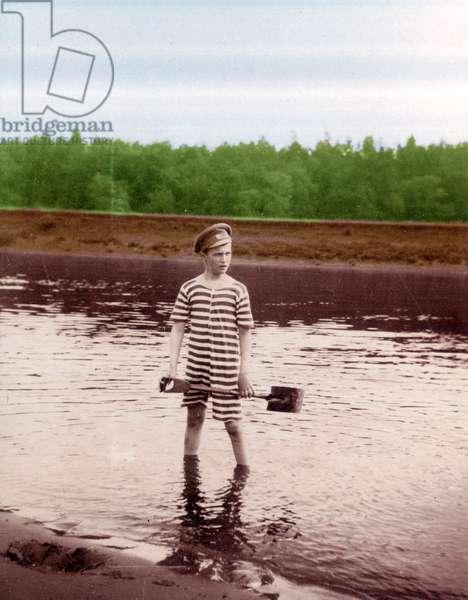 Alexei Nikolaevich Romanov on holiday in 1916