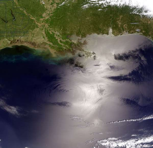 view of the Gulf of Mexico from the Moderate Resolution Imaging Spectroradiometer (MODIS) on NASA's Terra satellite