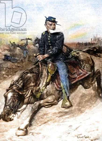 American Civil War, the messenger on horseback