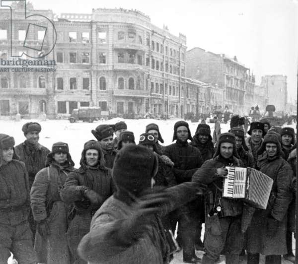 Liberated Stalingrad in January 1943.