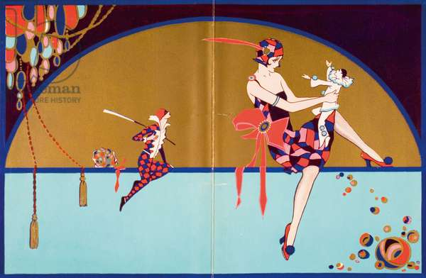 Get-Together Dinner Menu, Cunard West Indies Cruise, RMS Franconia, Tuesday, December 2, 1930 (colour litho)