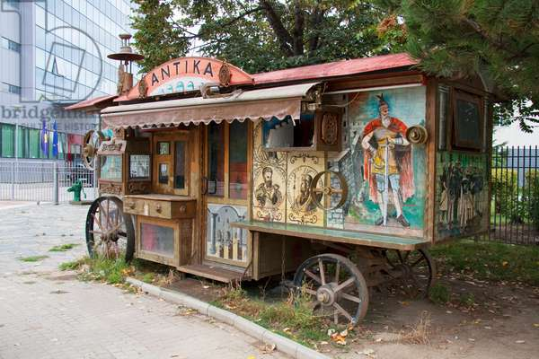 Antika, Old Gypsy Carriage, Prishtina, Kosovo (photo)