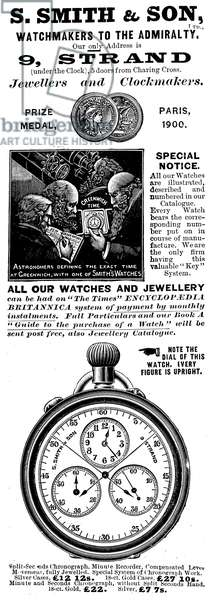 Advertisement for the Strand Jewellers and Clockmakers