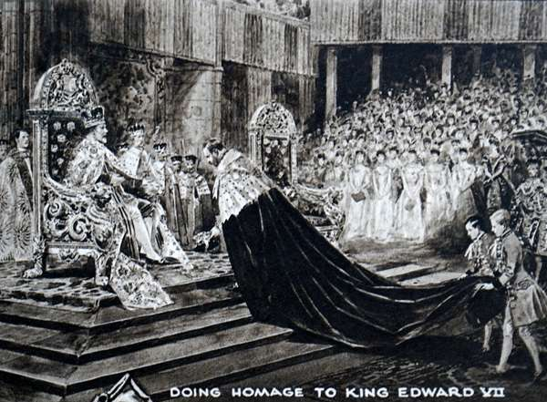 Edward VII during his coronation, 1902