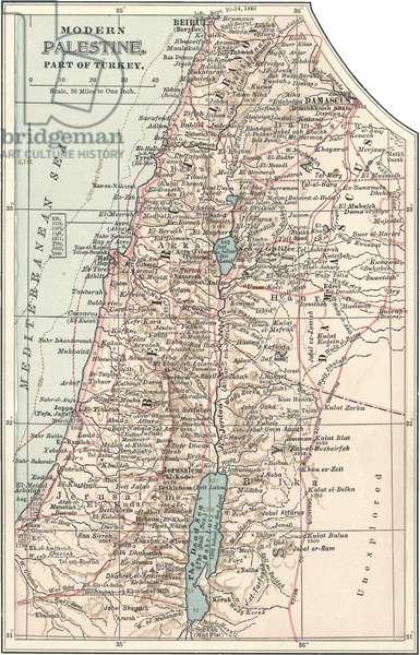 Map of Palestine part of Turkey