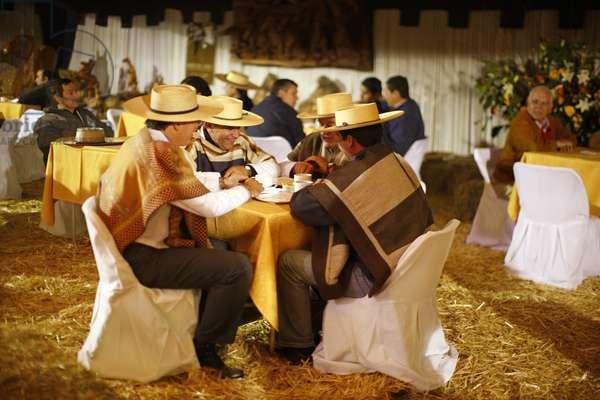 Huasos having Tea at Rodeo (photo)