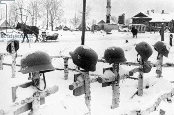 The Final Resting Place of German Soldiers on the Soil of Leningrad, World War Ll.