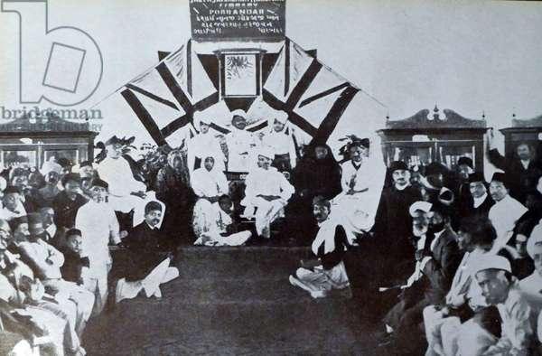 Mohandas Karamchand Gandhi and Kasturba