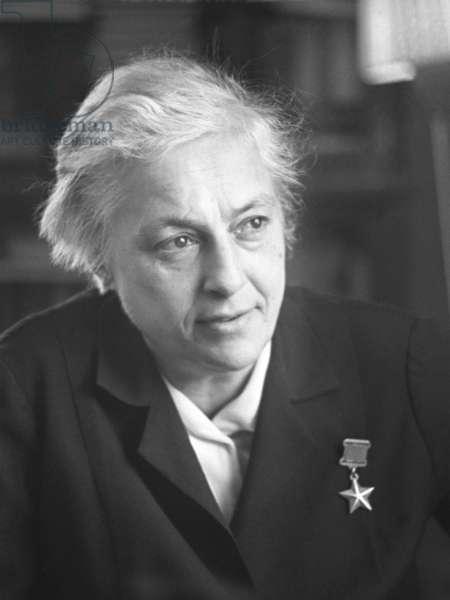 USSR, Sniper Lyudmila Mikhailovna Pavlichenko, Hero of the Soviet Union, February 1967.
