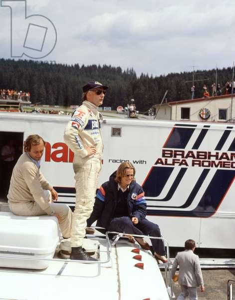 Niki Lauda an austrian motor racing driver in Spa, 1979 (photo)