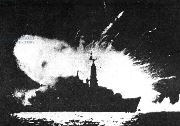 Falklands War Malvinas 1982, H.M.S. Antelope hit