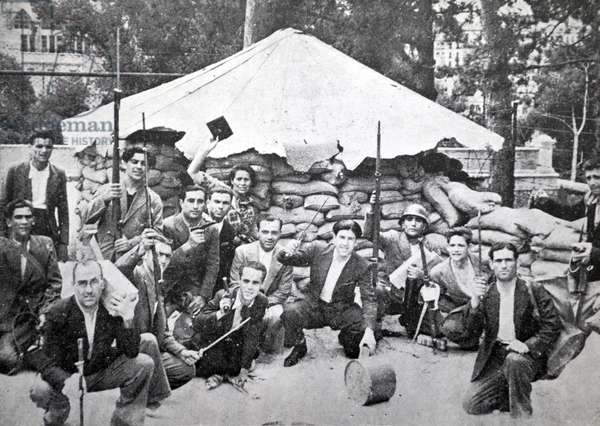 Republican soldiers during the Spanish civil war, Barcelona 1937