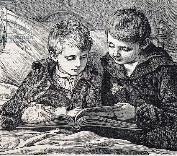 illustration depicting Brothers, 1888 (engraving)