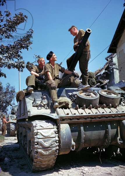World war Two: Canadian crew of a Sherman tank
