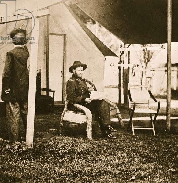 Cold Harbor, Virginia. U.S. Grant at his headquarters 1863 (photo)