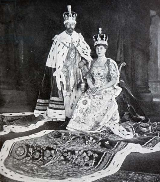 King George V and Mary of Teck after the King's coronation, 1910