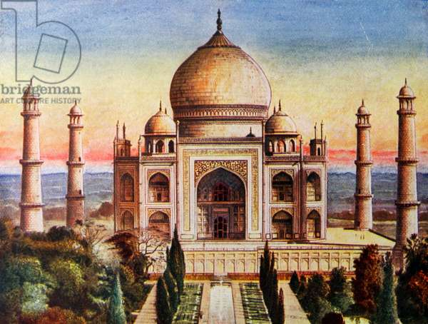 Colour illustration depicting the Taj Mahal