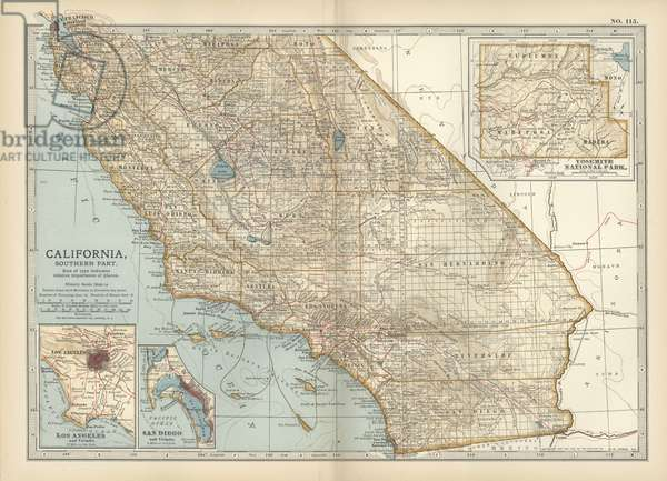 Map of the southern part of California