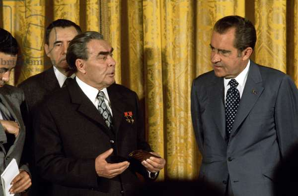 US President Richard Nixon and Russian Leader Leonid Brezhnev