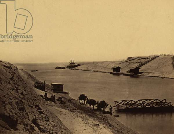Suez Canal - Lake Timsah, from opp. the chalet 1865 (photo)