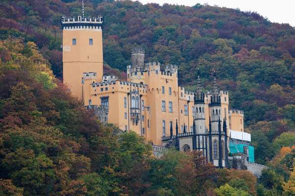 Stolzenfels Castle, as seen from the Rhine River, Rhineland-Palatinate, Germany (photo)