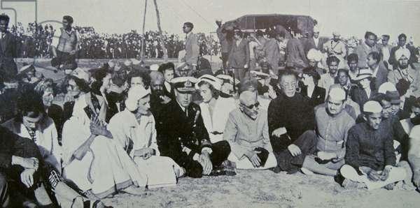 Cremation of Mahatma Gandhi 1948; ;Delhi; India.