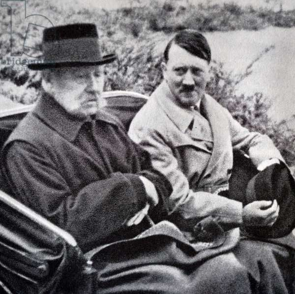 President Paul Von Hindenburg with Adolf Hitler, 1934