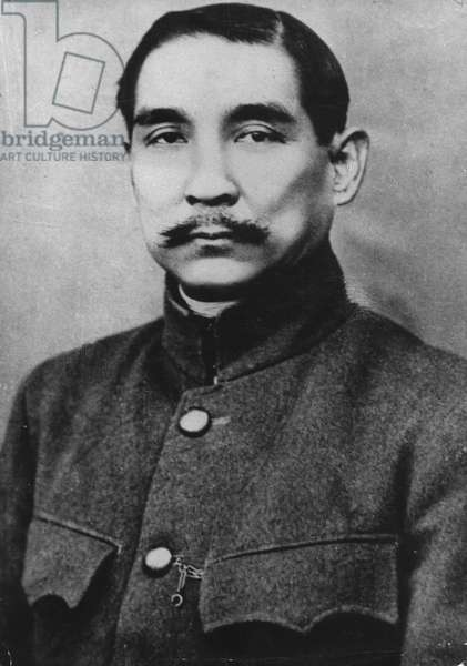 Dr. Sun Yat Sen, Chinese revolutionary leader (1866-1925). About 1911, the year of the Wuchang Uprising