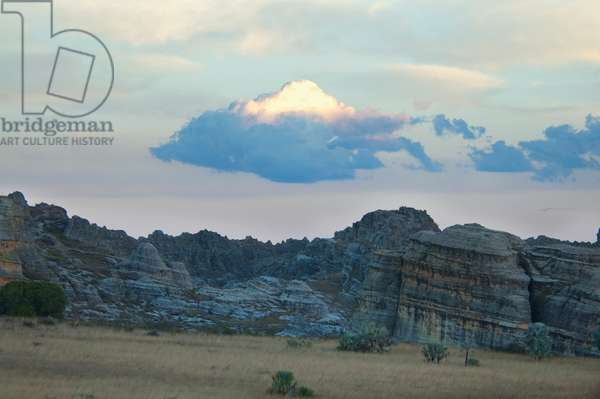 Eroded Jurassic Sandstone Massive Near La Fenetre Rock Formation (photo)