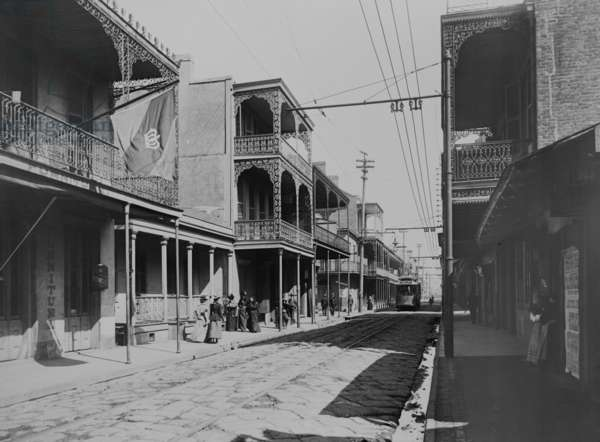 French Quarter Royal Street, New Orleans 1900 (photo)