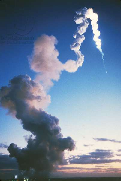 Launch Of Space Shuttle Challenger, 1/28/86