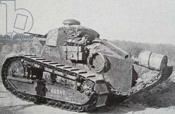 French first world war tank, 1918