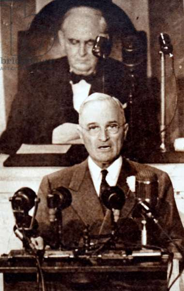 President Harry S. Truman addressing Congress.