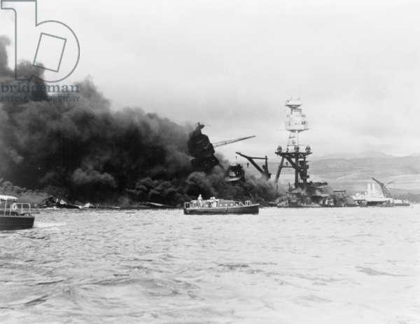 USS Arizona, Pearl Harbour, 1941