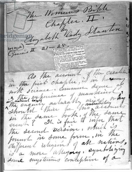 Elizabeth Cady Stanton's 'The Woman's Bible' 1895