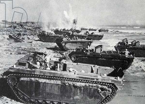 Still from the film 'Sands of Iwo Jima', 1949 (b/w photo)