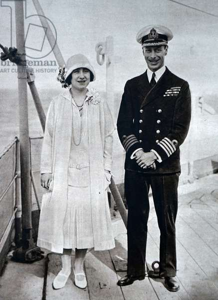 Prince Albert and Lady Elizabeth aboard the HMS Renown