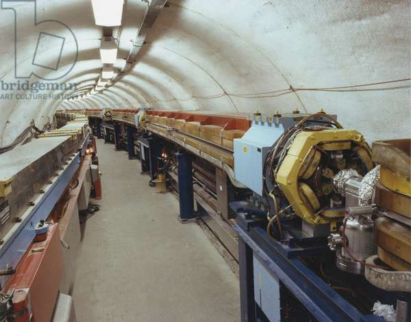 Particle accelerator tunnel, CERN, Geneva. CERN photograph.