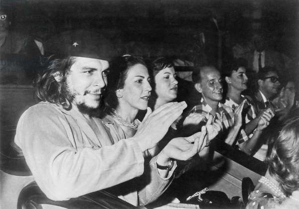 Latin American Revolutionary Ernesto 'Che' Guevara Attends Rally