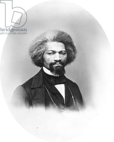 Frederick Douglass,  an African American who was one of the most eminent human-rights leaders. 19th century (photo)